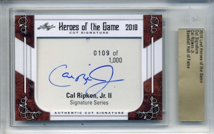 2018 Leaf Heroes of the Game Cut Signature Cards 1