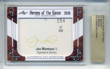 2018 Leaf Heroes of the Game Cut Signature Cards 2
