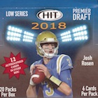 2018 Sage Hit Premier Draft Low Series Football Cards