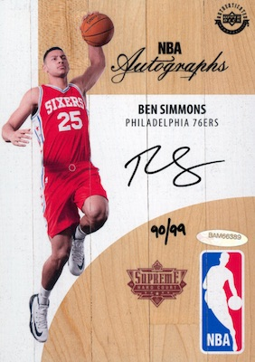 2018 Upper Deck Authenticated NBA Supreme Hard Court