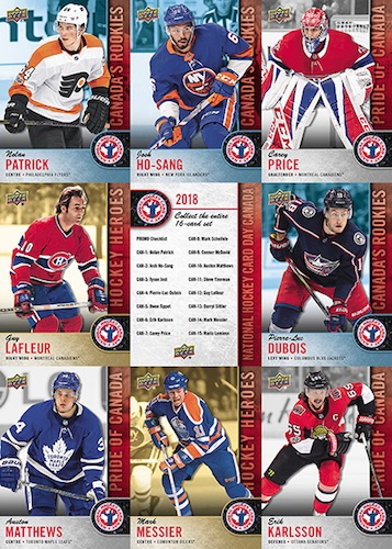 2018 Upper Deck National Hockey Card Day Trading Cards 3