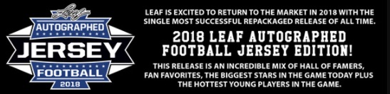 2018 Leaf Autographed Football Jersey Edition 3