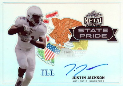 2018 Leaf Metal Draft Football Cards 23