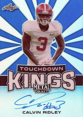 2018 Leaf Metal Draft Football Cards 24