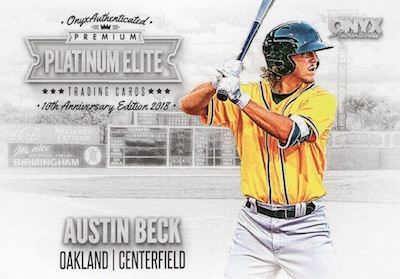 2018 Onyx Platinum Elite Baseball