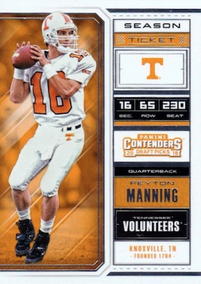 2018 Panini Contenders Draft Picks Football Cards 3
