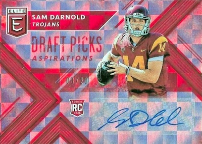 1bc96549a4a 2018 Panini Elite Draft Picks Football Checklist, SSP Info, Boxes ...