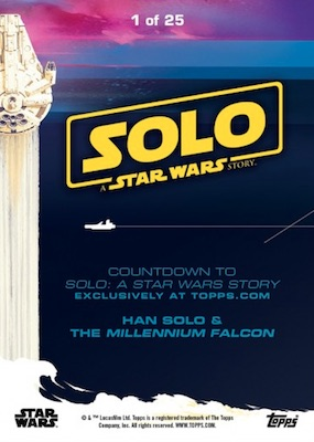 2018 Topps Countdown to Solo: A Star Wars Story Trading Cards Gallery 2
