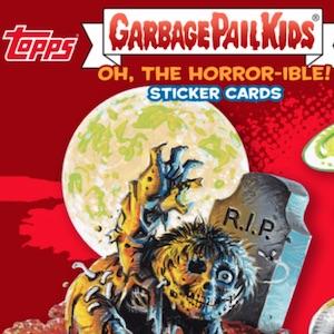 Garbage Pail Kids Oh The Horror Sticker 12b Retro Horror Sacrificed Stevie