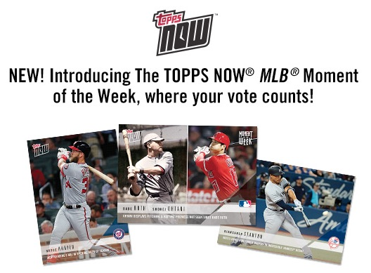 2018 Topps Now Moment of the Week Baseball Cards - Moment of the Year 1