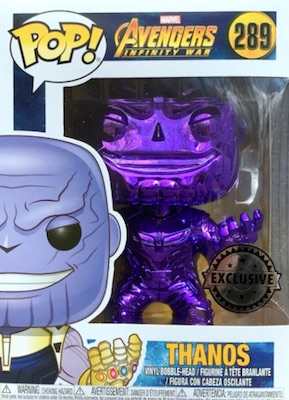Thanos Purple Chrome Avengers 3 Infinity War Funko Exclusive POP