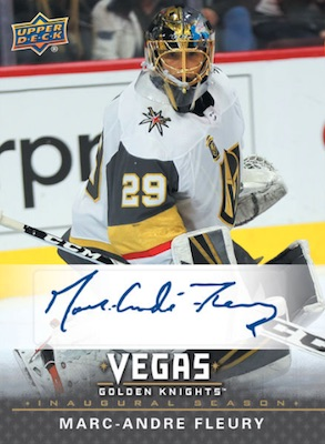 2017-18 Upper Deck Vegas Golden Knights Inaugural Season Hockey Cards - Checklist Added 5