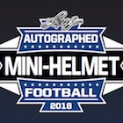 2018 Leaf Autographed Football Mini-Helmet Edition