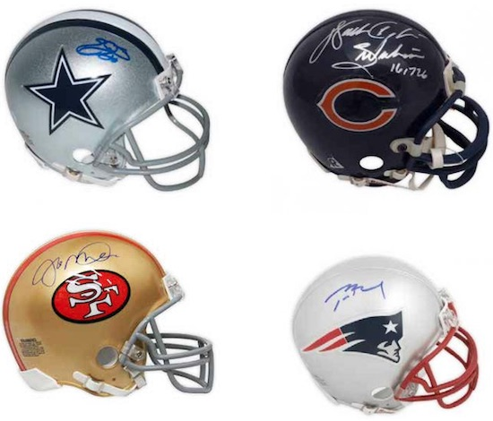 2018 Leaf Autographed Football Mini-Helmet