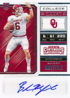 2018 Panini Contenders Draft Picks Football Variations Guide 6