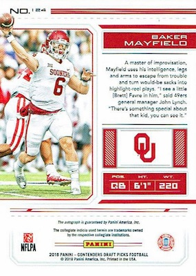 2018 Panini Contenders Draft Picks Football Variations Guide 11