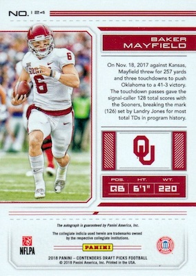 2018 Panini Contenders Draft Picks Football Variations Guide 9