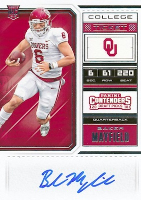 2018 Panini Contenders Draft Picks Football Variations Guide 12
