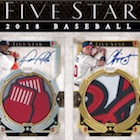 2018 Topps Five Star Baseball Cards