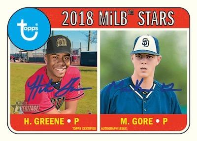 2018 Topps Heritage Minor League Baseball