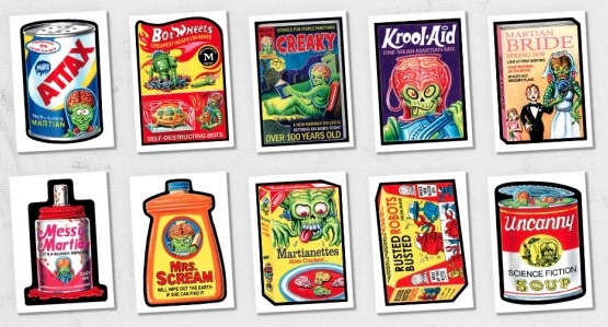 2018 Topps Wacky Packages Mars Attacks Trading Cards 2