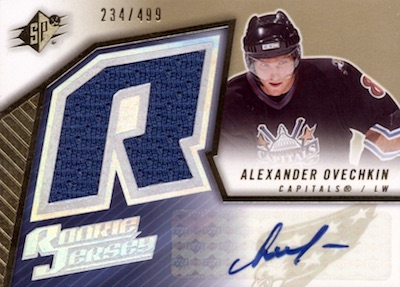 the best attitude cfa27 76f9d Alexander Ovechkin Rookie Cards, Best List, Top Autographs ...
