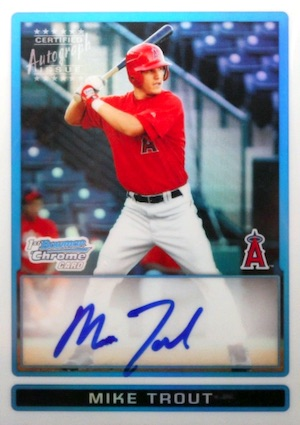 Mike Trout Rookie Cards Checklist and Autographed Memorabilia Guide 8