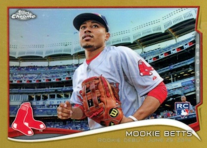 Mookie Betts Rookie Cards Checklist and Top Prospect Cards 10