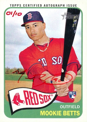 Mookie Betts Rookie Cards Checklist and Top Prospect Cards 14
