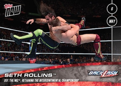 2018 Topps Now WWE Wrestling Cards 9