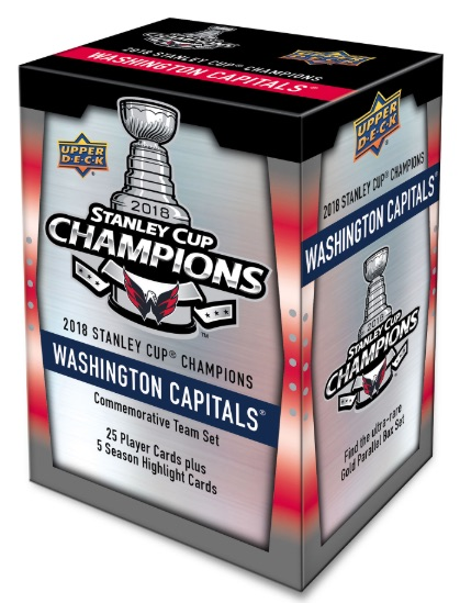 4b1ddd289 2018 Upper Deck Washington Capitals Stanley Cup Champions Hockey Cards -  Checklist Added 3