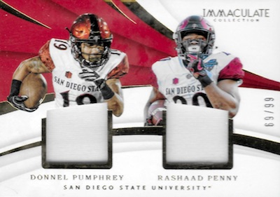 2018 Immaculate Collection Collegiate Football Cards 36