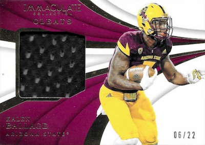 2018 Immaculate Collection Collegiate Football Cards 40