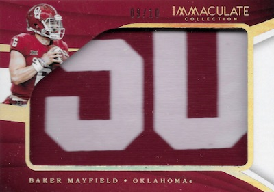 2018 Immaculate Collection Collegiate Football Cards 6