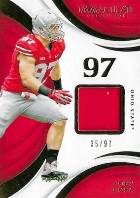 2018 Immaculate Collection Collegiate Football Cards 26