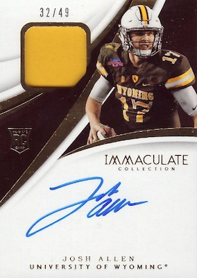 2018 Immaculate Collection Collegiate Football Cards 30