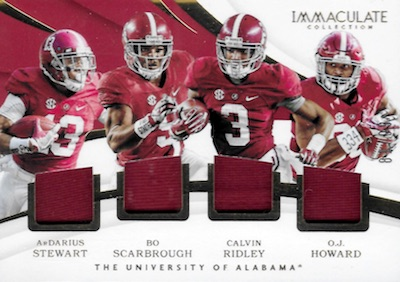 2018 Immaculate Collection Collegiate Football Cards 7