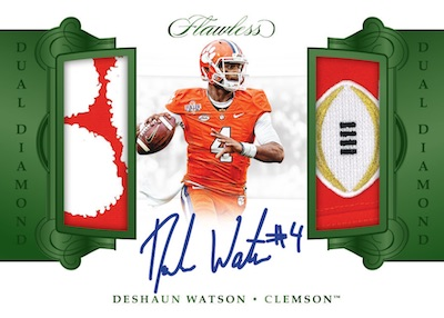 2018 Panini Flawless Collegiate Football Cards 9
