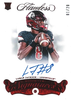 2018 Panini Flawless Collegiate Football Cards 4