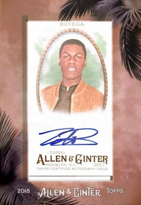 2018 Topps Allen & Ginter Non-Baseball Autographs Breakdown 2