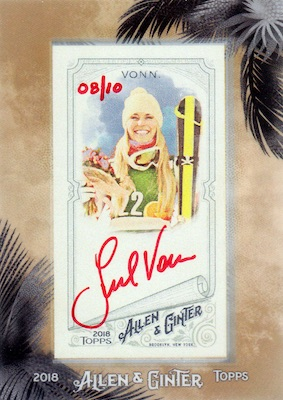 2018 Topps Allen & Ginter Non-Baseball Autographs Breakdown 1