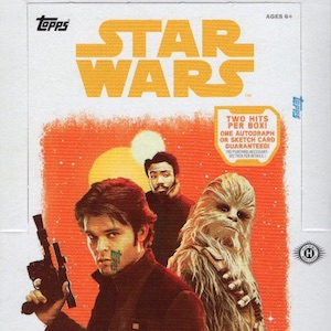 A star wars story TOPPS SOLO empty sticker album.