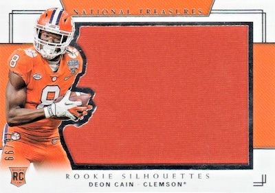 2018 Panini National Treasures Collegiate Football Cards 32