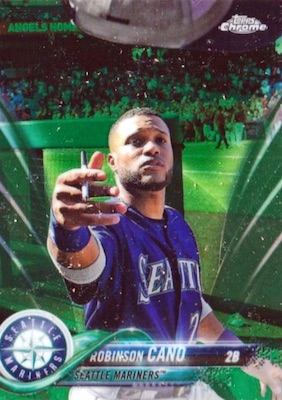 2018 Topps Chrome Baseball Variations Refractor Guide 1