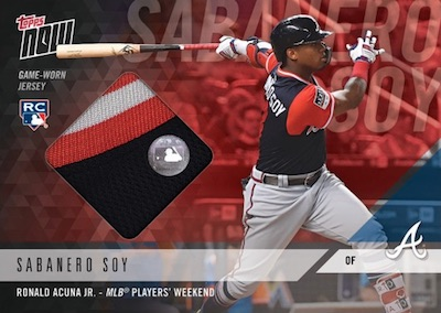 2018 Topps Now MLB Players Weekend Baseball Cards - Jersey Relics 3
