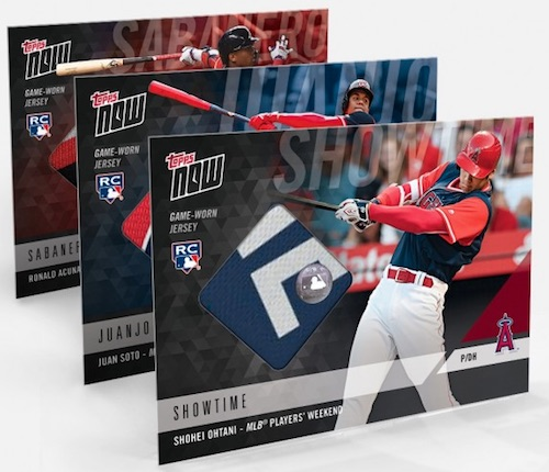 2018 Topps Now MLB Players Weekend Baseball Cards - Jersey Relics 2