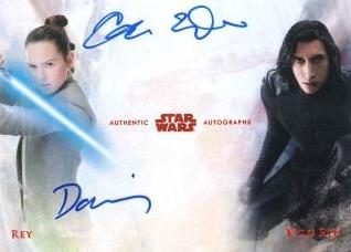 Star Wars Merchandise 2018-Topps-Star-Wars-Stellar-Signatures-Dual-Autograph-Rey-Kylo-Ren
