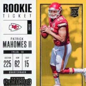 Patrick Mahomes Cards Hot List Most Popular Valuable Rookie Cards