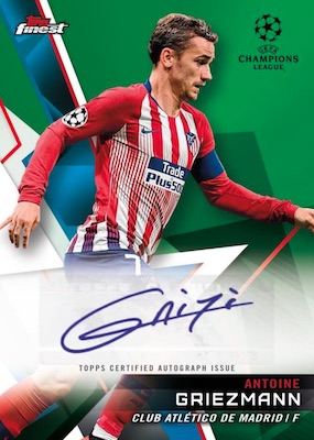 2018-19 Topps Finest UEFA Champions League Soccer Cards - Checklist Added 6