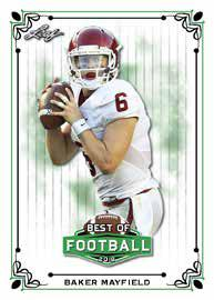 2018 Leaf Best of Football Cards 2